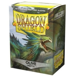 Dragon Shield Standard Sleeves - Matte Olive (100 Sleeves)