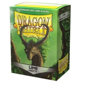Dragon Shield Standard Sleeves - Matte Lime (100 Sleeves)