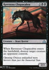 Ravenous Chupacabra Mystery Booster