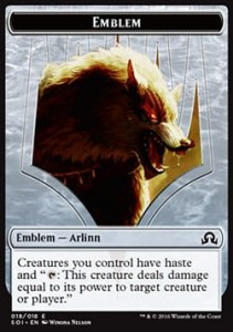 Arlinn, Embraced by the Moon Emblem (Shadows over Innistrad)